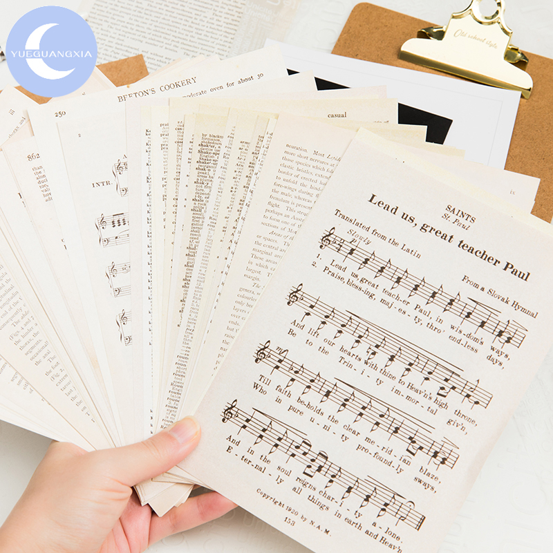 YueGuangXia Retro Letter Scrapbooking/Card Making/Journaling Project DIY Kraft Vintage Material Writing Paper Card 1 Design 57pc