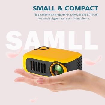 A2000 mini projetor 800 lumens 1080p lcd 50,000 horas de vida da lâmpada de cinema em casa projetor vídeo portátil