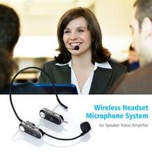 Micrófono inalámbrico ligero UHF con caja receptora, Sistema de música para altavoz, amplificador de voz para enseñanza