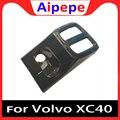 Углеродное волокно заднего ряда Кондиционер Вентиляционный удлинитель с USB рамка крышка литья планки для Volvo XC40 2018 2019 аксессуары для укладк...