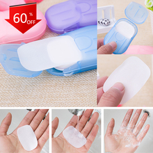 100Pcs Disposable Soap Paper Clean Scented Slice Portable Bath Hand Washing Slice Sheets Travel Use Cleaning Foaming Soap Paper