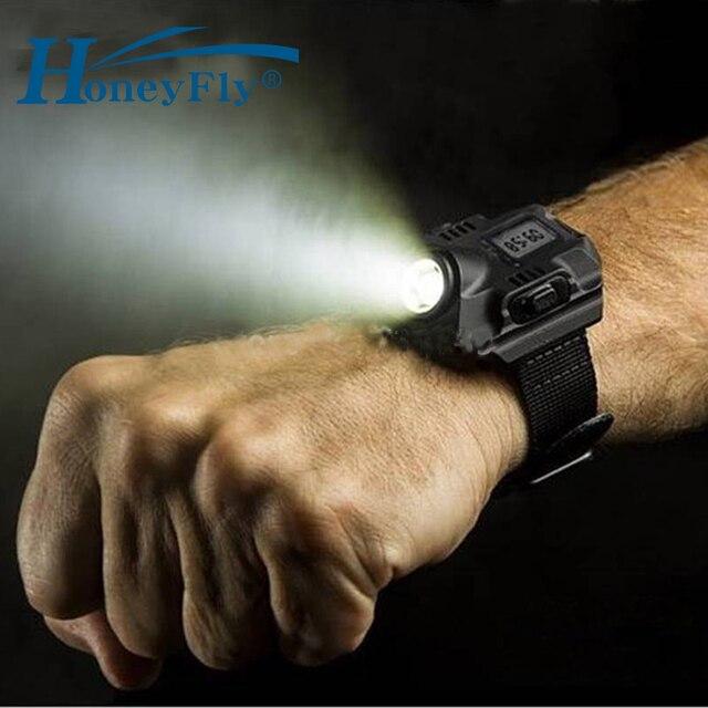 HoneyFly Uhr Flash Licht Led LED Wristlight Aufladbare Lampen Laterne Wasserdicht Handgelenk Beleuchtung Fackel Im Freien lampe