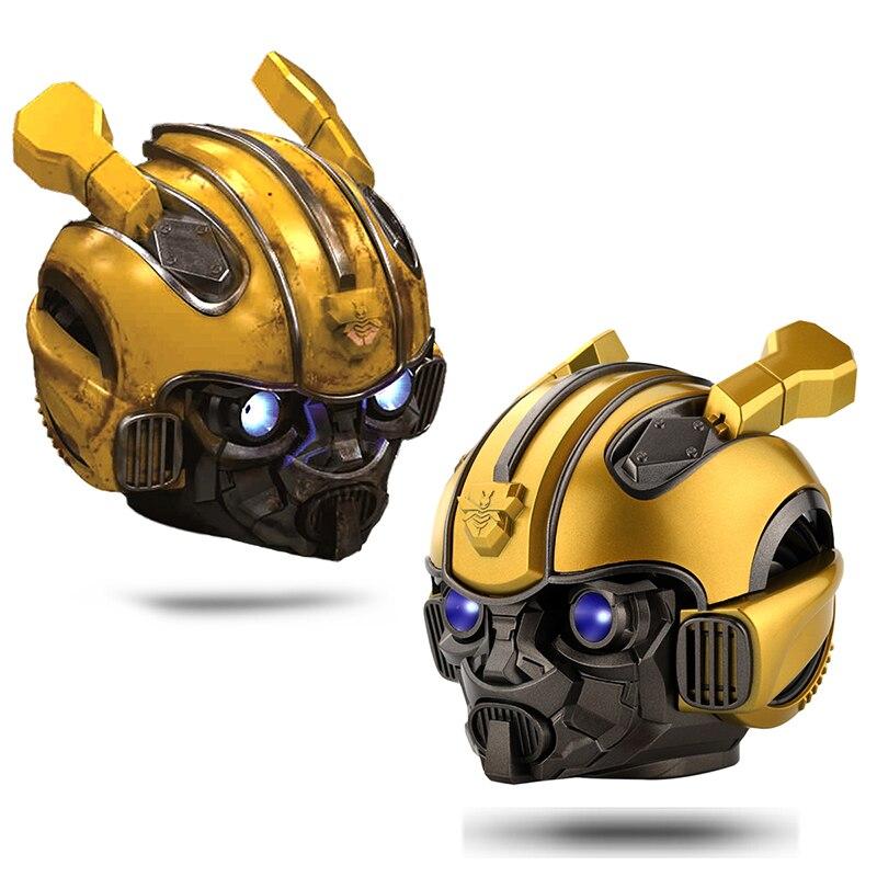 Bumblebee шлем Bluetooth динамик мини беспроводной стерео громкий динамик s Fm радио Usb Mp3 TF Смарт сабвуфер синий зуб 5,0 портативный|Портативные колонки|   | АлиЭкспресс