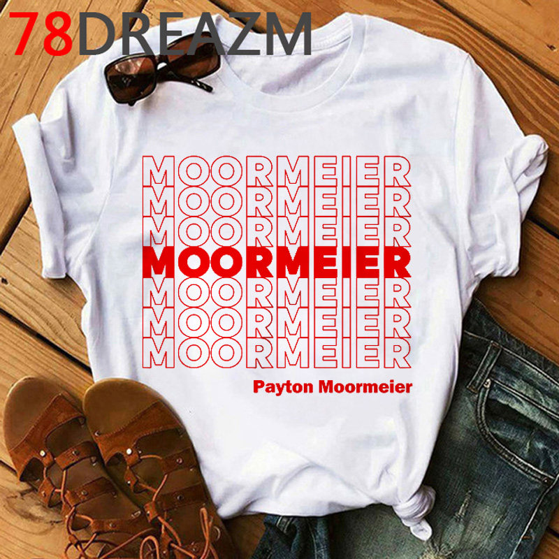 Payton Moormeier T Shirt Men Kawaii Funny Hip Hop Harajuku T-shirt 2020 Summer Tops Unisex Grunge Aesthetic White Tshirt  Male