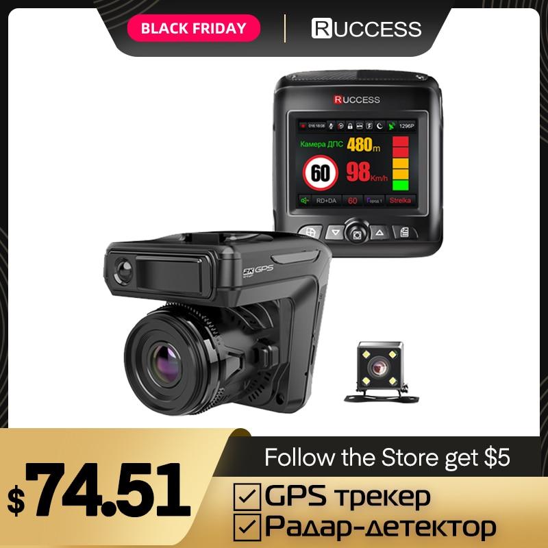 Ruccess STR LD200 G 3 в 1 Автомобильный видеорегистратор, радар детектор лазерный с gps Full HD 1296P 1080 двойной Регистраторы тире Камера спереди и сзади