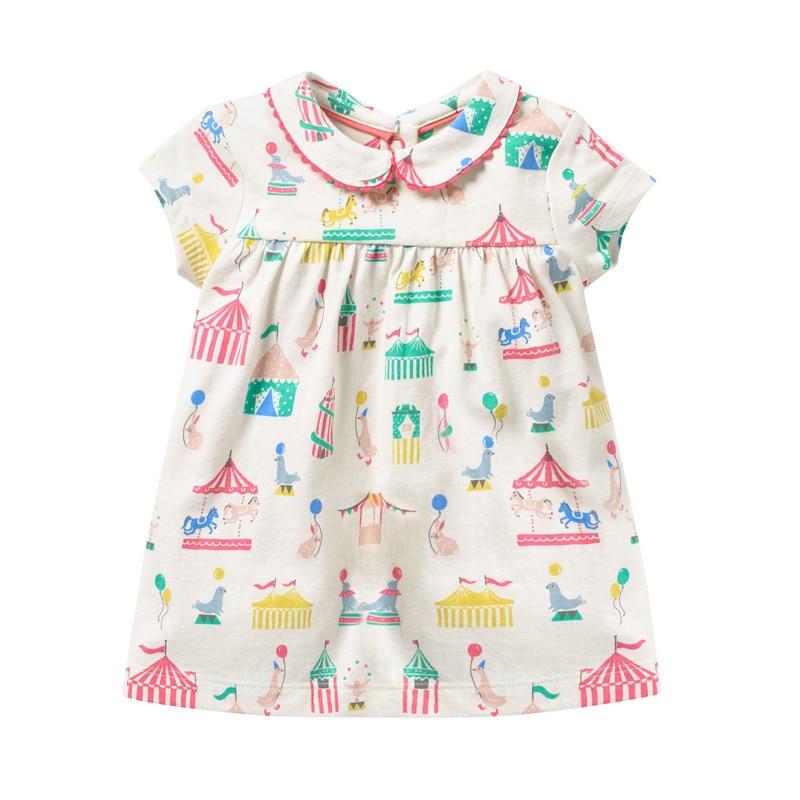 Little Maven 2021 New Summer Baby Girls Clothes Brand Dress Toddler Cotton Dot Bunny Flower Print Dresses for Kids 2-7 Years 5