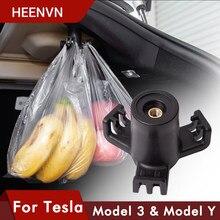 Heenvn 2021 Model3 Coffre Crochet Pour Tesla Modèle 3 Accessoires Voiture Cargo Arrière Coffre Sac Support De Crochet Cintre Pour Tesla Modèle Trois