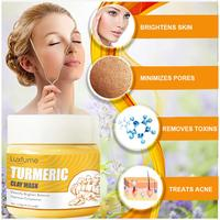 120g Turmeric Mud Mask Clay Paste Deep Cleaning Brightening Purifying Nourishing Turmeric Mud Turmeric Clay Mask Women Skin Care 3