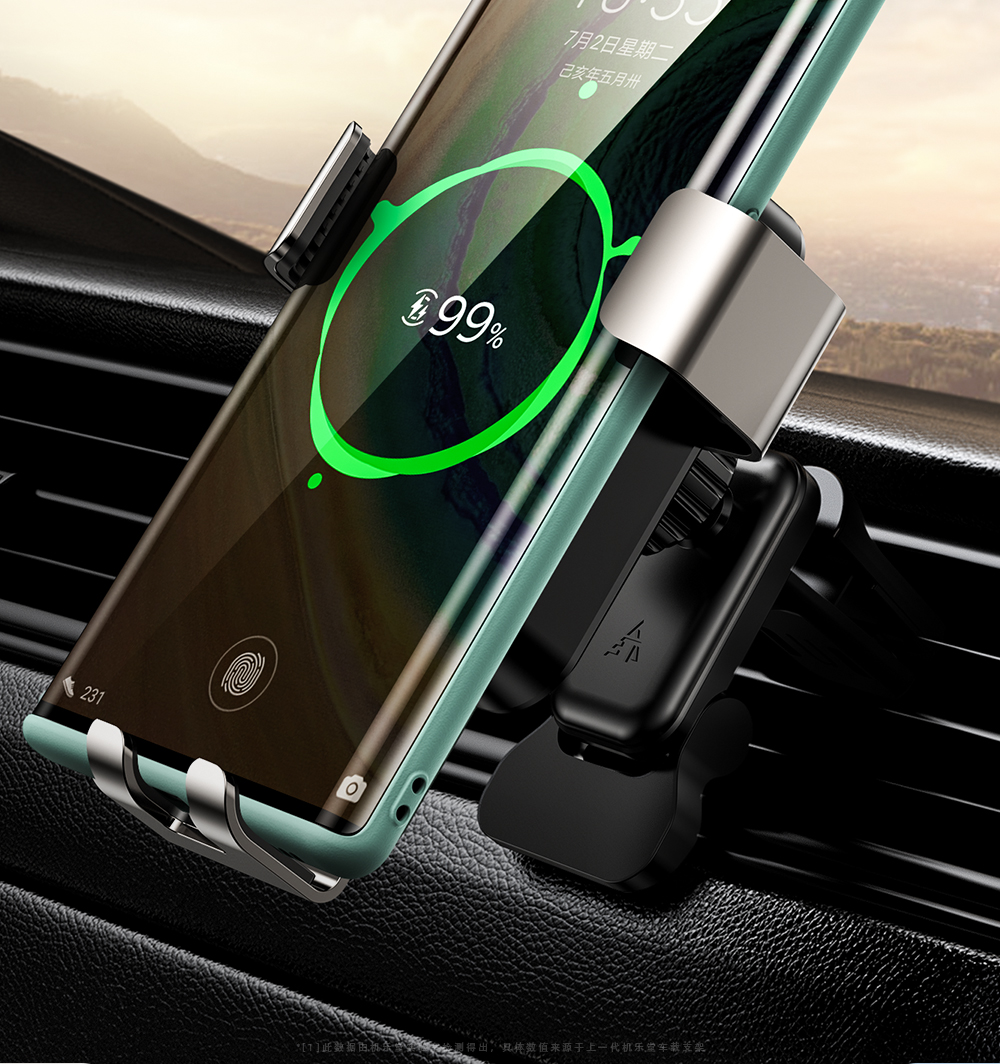 Joyroom 15w Qi Wireless Car Phone Holder charger Intelligent Infrared Fast Charger Stand Car Phone Holder for iPhone 12 Huawei