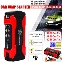 Echte 12v 36800mah Auto Starthilfe Power Pack Tragbare Auto Batterie Booster Ladegerät 12V Ausgangs Gerät Diesel auto Starter