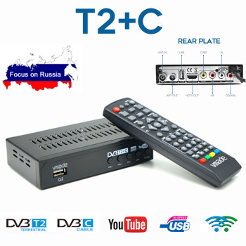 DVB-T2 HD TV Tuner DVB-C Combo Digital Terrestrial Receiver Youtube AC3 Audio Decoder Fully 1080P H.264 M3U Set-Top Box 5 1 audio gear 2 in 1 5 1 channel ac3 dts 3 5mm audio gear digital surround sound decoder stereo l r signals decoder hd play