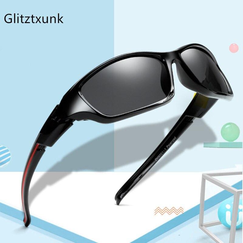 Glitztxunk 2020 Новые Детские поляризованные солнцезащитные очки детские квадратные спортивные солнцезащитные очки для мальчиков и девочек UV400 С...