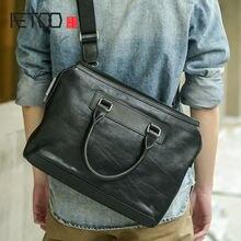 Кожаная сумка на плечо aetoo для мужчин Повседневная деловая
