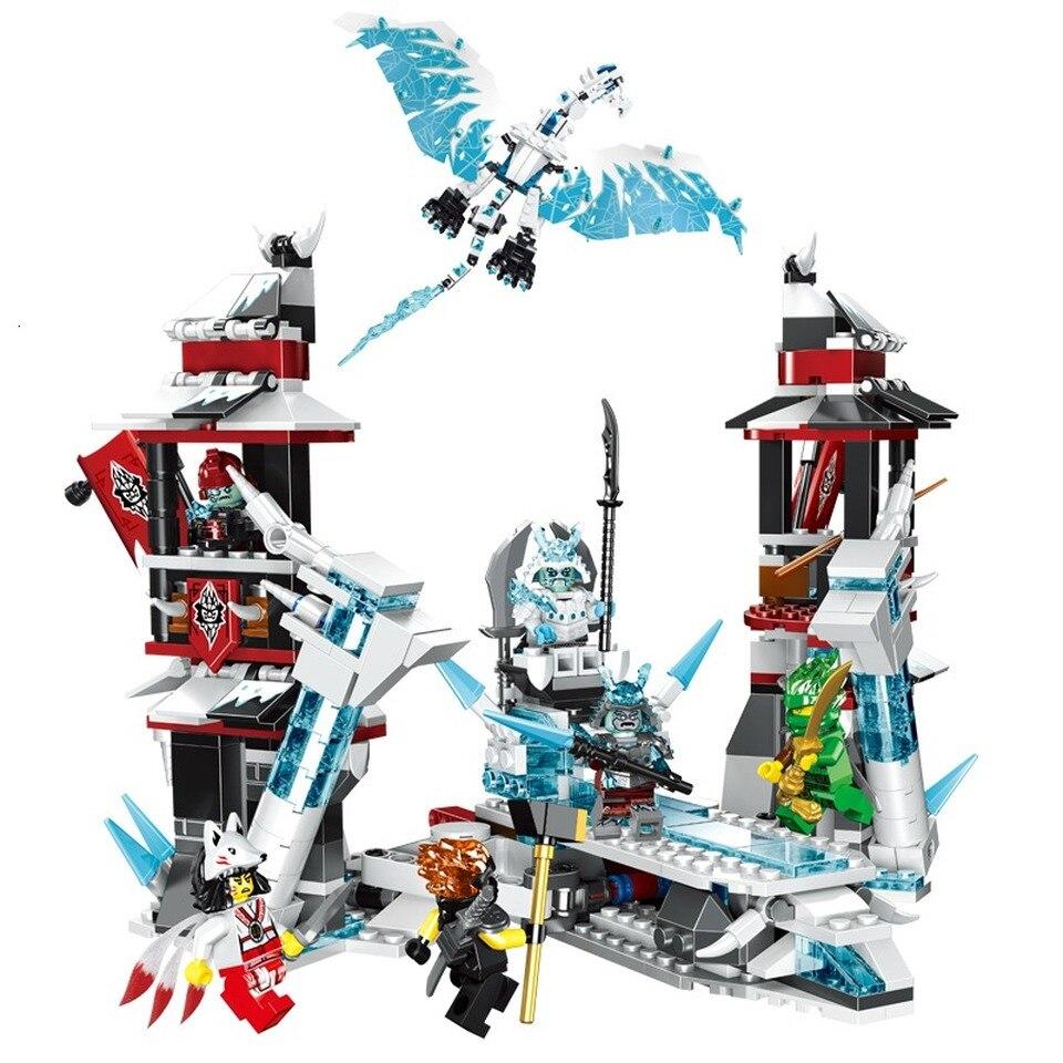 Nuevo 849 Uds. Castillo de Ninja de camión de modelo de camión de perlado del imperio bloques de construcción compatibles Legoinglyes ninfagoes 70678 juguete para niños 8 en 1 695 piezas águila fuerzas SWAT camión helicóptero vehículo bloques de construcción niños juguetes para niños Legoings compatibles la policía