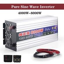 Czysta fala sinusoidalna falownik 50Hz 60Hz 4000W 5000W 8000W DC 12V 24V do AC 220V napięcie W samochodzie transforme konwerter mocy