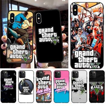 Grand Theft Auto GTA V DIY Luxury Phone Case for iPhone 11 pro XS MAX 8 7 6 6S Plus X 5S SE 2020 XR case image