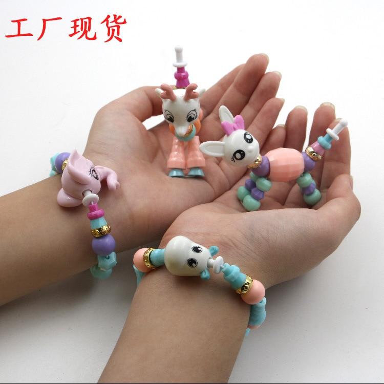Twisty Petz DIY Magic Transformation Animal Twisted Flexible Bracelets Children Beaded Bracelet Wan Ju Lian-Fairy