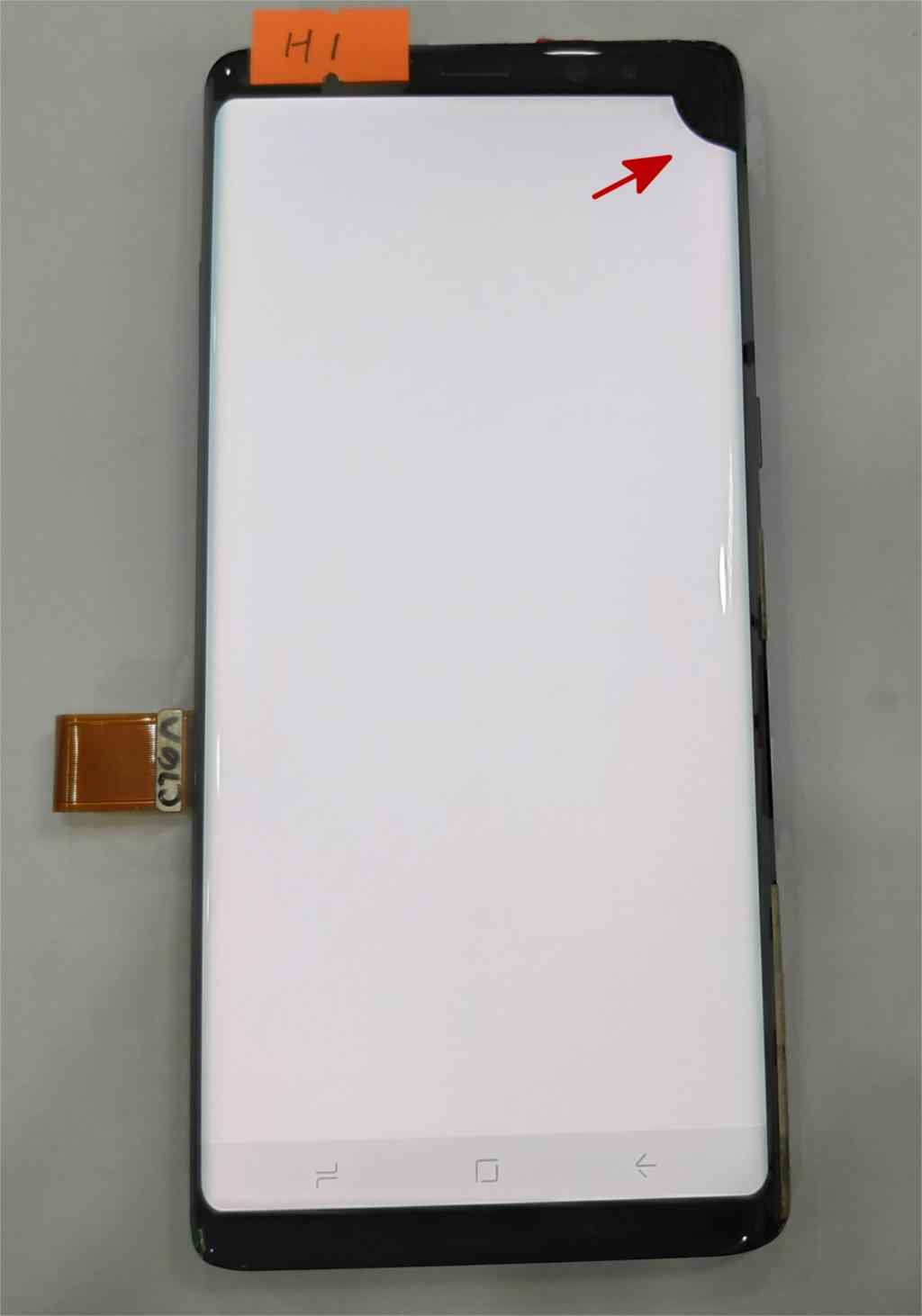 "Super Amoled para Samsung Galaxy Note8 Nota 8 N9500 N950FD N950U defecto pantalla Lcd de montaje de digitalizador con pantalla táctil de 6,3"""