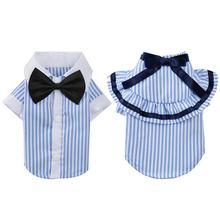 Одежда для собак Классическая рубашка домашних животных одежда