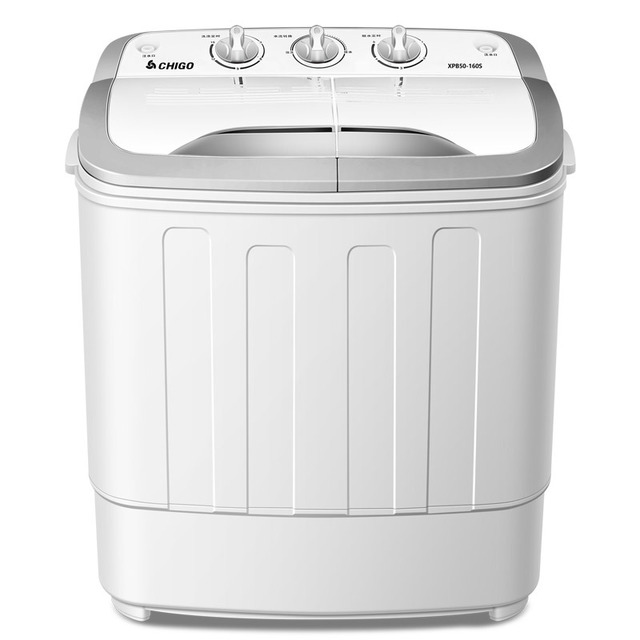 240w power Mini washer can wash 5.0kg clothes+130w power 2kg dehydration twin tub top loading washer&dryer SEMI-AUTOMATIC UV vio image