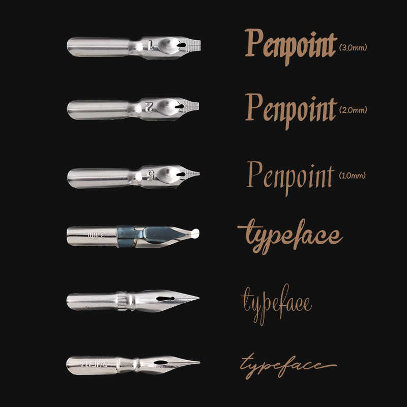 JIANWUไม้เสาน้ำปากกาประดิษฐ์ตัวอักษรFountain PenชุดGothicตัวอักษรภาพวาดปากกาArt Supplies