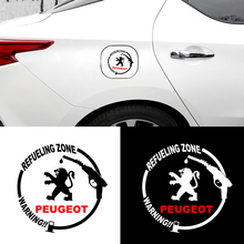 1pc Car Sticker Fuel Tank Cover Reflective Car Vinyl Decal for Peugeot 206 308 307 207 208 3008 407 508 2008 RCZ Car Accessories
