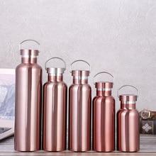 Термальная бутылка для девочек из нержавеющей стали, бутылка для горячей и холодной воды, с двойными стенками, вакуумная гидро-фляжка 500/1000 мл для спорта, путешествий, велоспорта