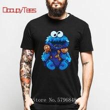 Gingerbread Cookie Monster Vai À Loucura E Come Tshirt Hip Hop Homens Puro Algodão Top Tee Novidade Bonito Sesame Street T-Shirt Unisex