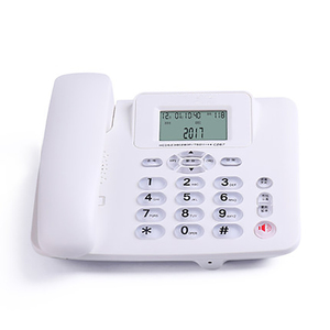 Image 2 - Wired Landline Phone with Speaker, R Key, Button Light, Adjustable Font Brightness, Dual Port Corded Telephone for Home Office