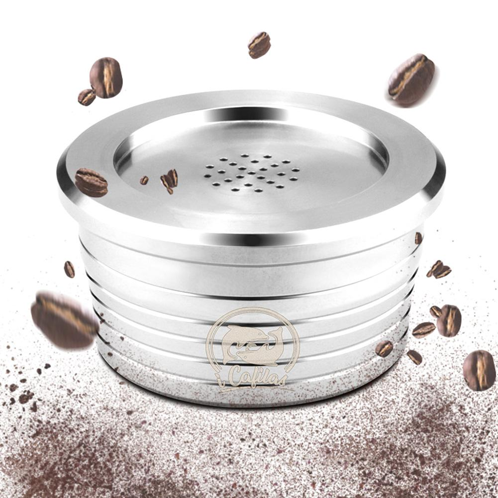 Reusable Stainless Steel Espresso Coffee Capsule Filter Compatible For Delta Q Refillable Filters Baskets Pod Soft Taste Sweet