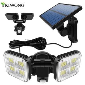20w Super Bright Solar Lights 120led IP65 Waterproof Outdoor Indoor Solar Lamp With Adjustable Head Wide Lighting Angle