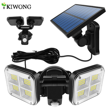 20w Super Bright Solar Lights 120led IP65 Waterproof Outdoor Indoor Solar Lamp With Adjustable Head Wide Lighting Angle