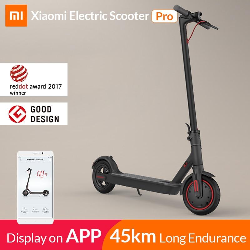 2019 Xiaomi mi электрический самокат mi jia M365 Pro Smart E самокат скейтборд mi ni складной Ховерборд Лонгборд для взрослых 45 км аккумулятор
