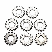8pcs m1 involute gear pa 20 degree hss cutters set #1 8 assortment
