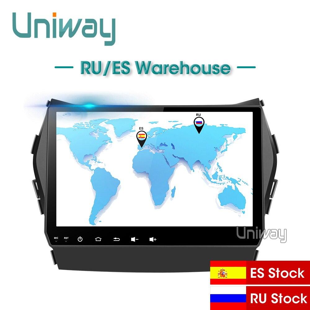 Uniway AIX459071 IPS android 9.0 car dvd for Hyundai IX45 Santa fe 2013 2014 car radio stereo navigation car dvd player gps