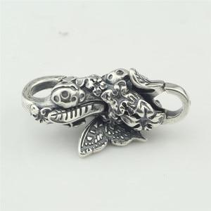 Image 4 - Echtes 925 Sterling Silber Armband Schmetterling Hummer Lock Vintage karabinerverschluss für Frauen Fit für Europäischen Charme Armbänder