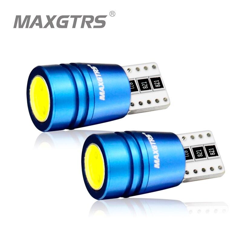 MAXGTRS высокое Мощность T10 w5w светодиодные лампы 12V ксенон теплый белый 4300 К автомобильный светильник лампы Интерьер светильник с can-bus Ошибка П...
