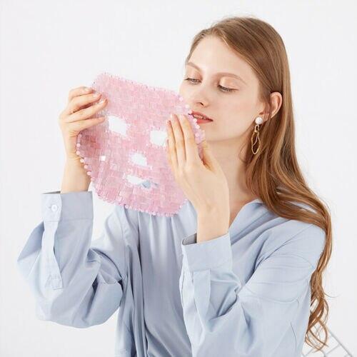 2020 High Quality Handmade Natural Amethyst Rose Quartz Healing Stone Neck Shoulder Mask Skin Care Massager Beauty Accessories