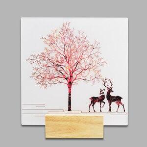 Image 2 - Artpad 現代ロマンチックな無地染め燭台屋内壁 Led アクリル壁壁ランプリビングルームベッドサイドマット暖かい光