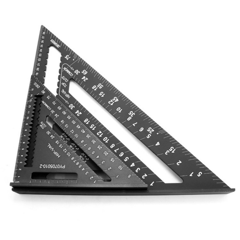 7Inch/12Inch Carpentry Squares Aluminum Alloy Ruler 90 Degrees Angle Ruler Woodworking Framing Measuring Layout Tool