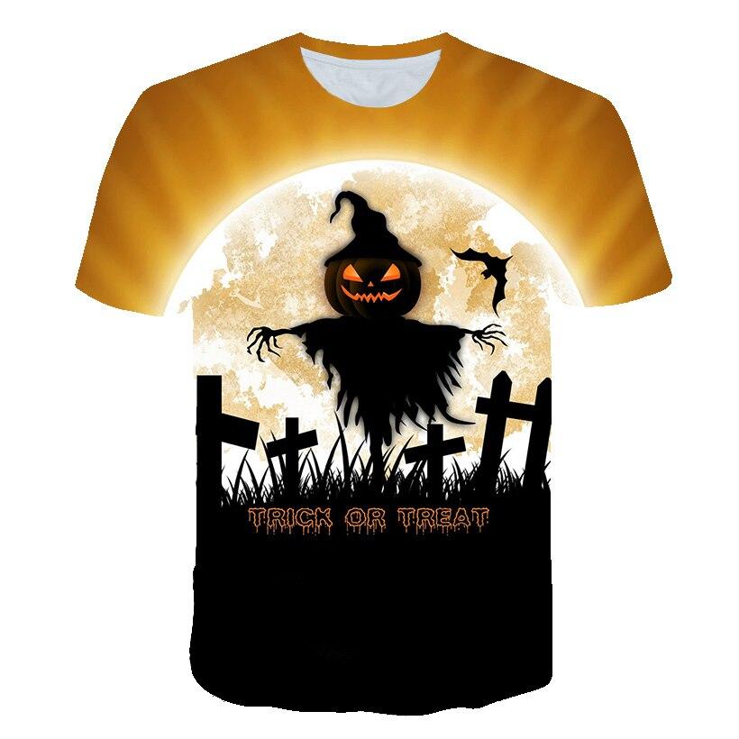 Newest Halloween Skull Cool T Shirt for Kids Boys Girls Summer T shirt Children Hip Hop Rock Tshirt Toddler Baby Top Tee in T Shirts from Mother Kids