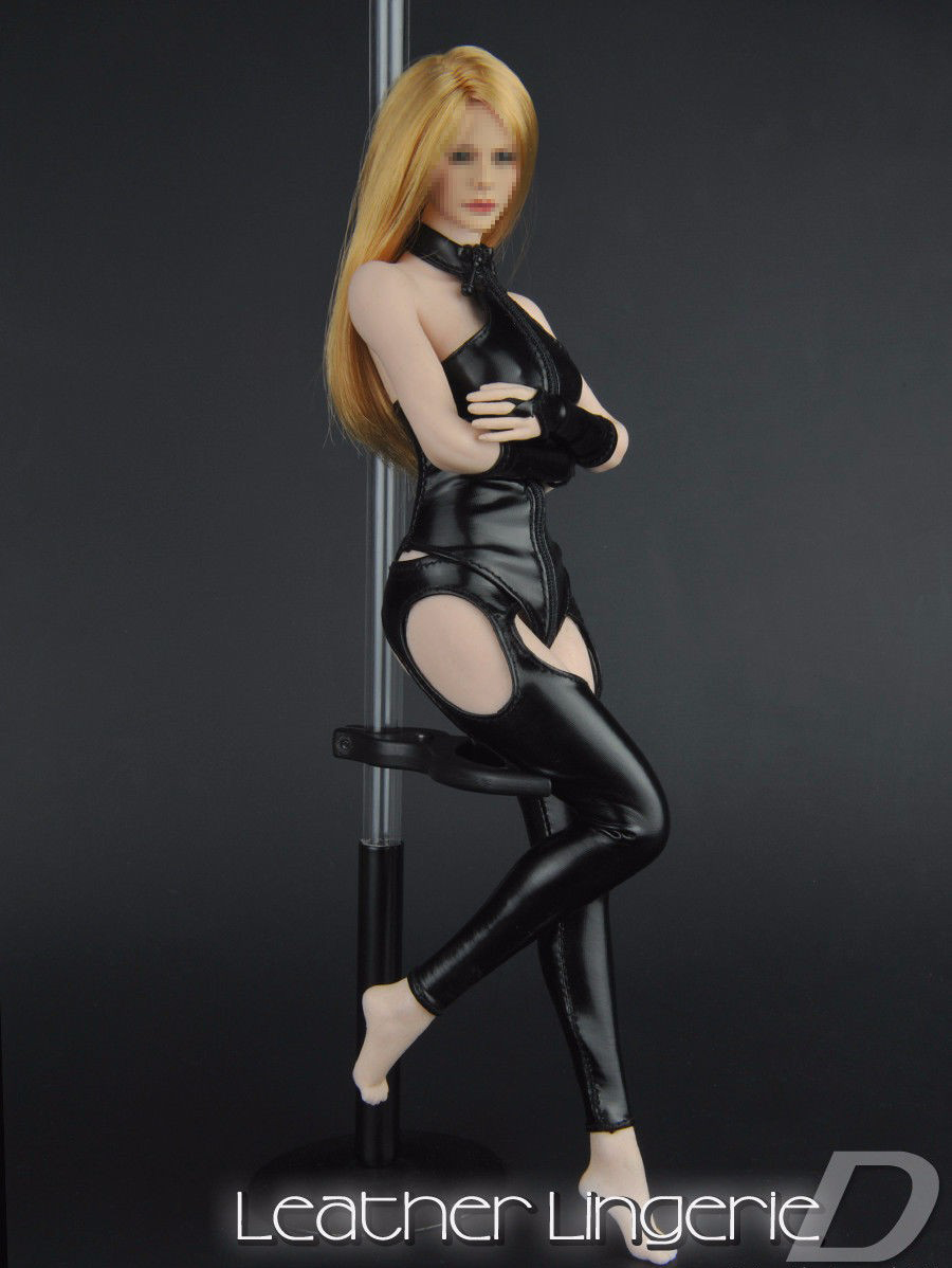 "1//6th Female Tight Camisole/&White Dress/&Stocking Clothes Set F 12/"" Body Model"