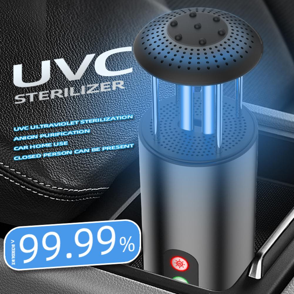 UVC Ultraviolet Air Purifier For Home Car True HEPA Filters Compact Desktop Purifiers Filtration With Night Light Air Cleaner
