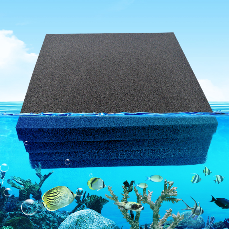 Aquarium Filter Sponge Biochemical Cotton Black Fish Tank Pond Bio Foam Media Water Pump Filter Pad Skimmer Aquarium Accessories