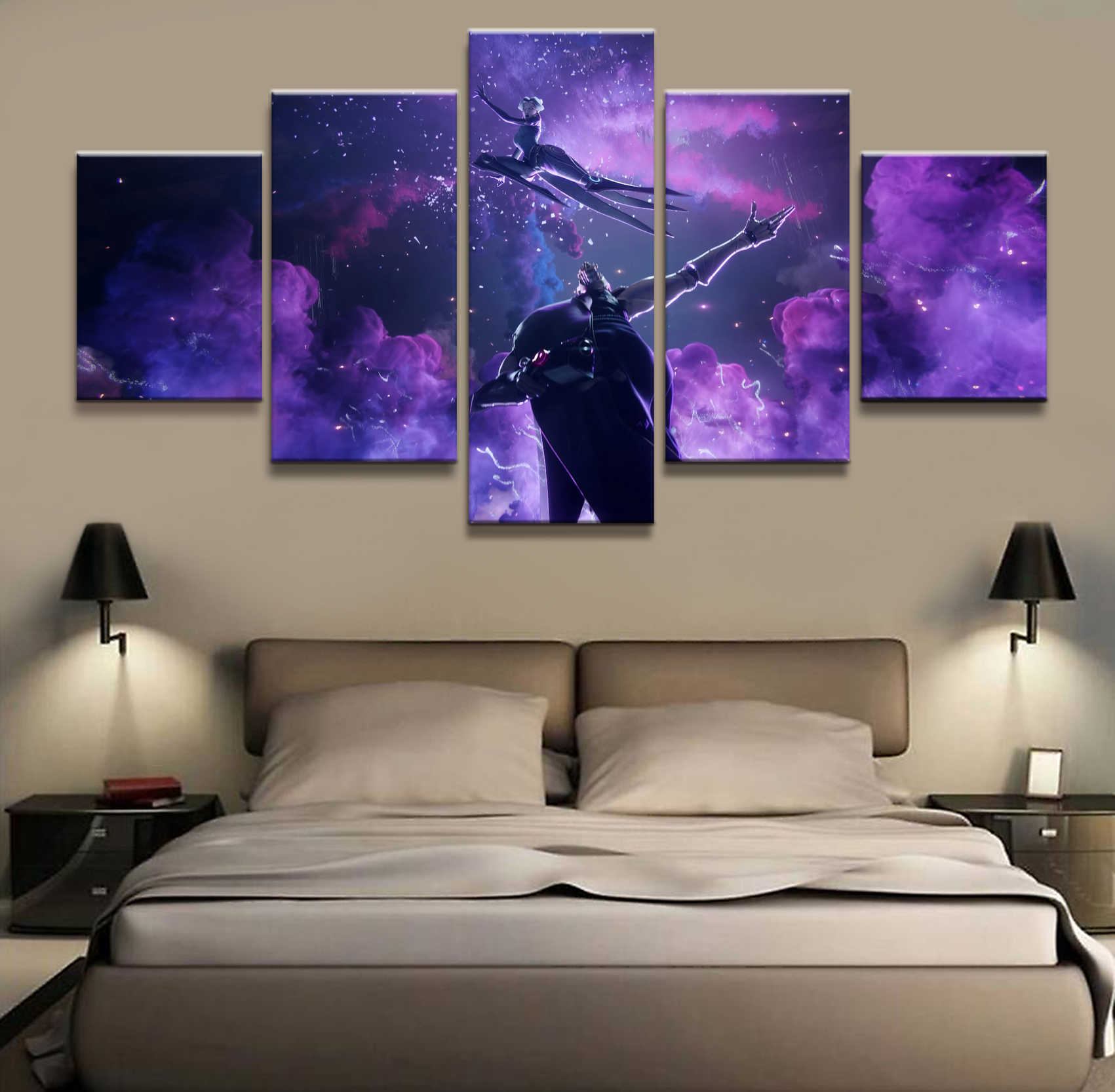 5 Panel Camille LOL League of Legends Game Canvas Printed Painting For Living Room Wall Art Decor Picture Works Poster Wholesale