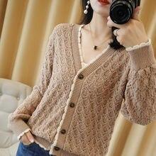 Женский зимний шерстяной свитер sparsil с v образным вырезом