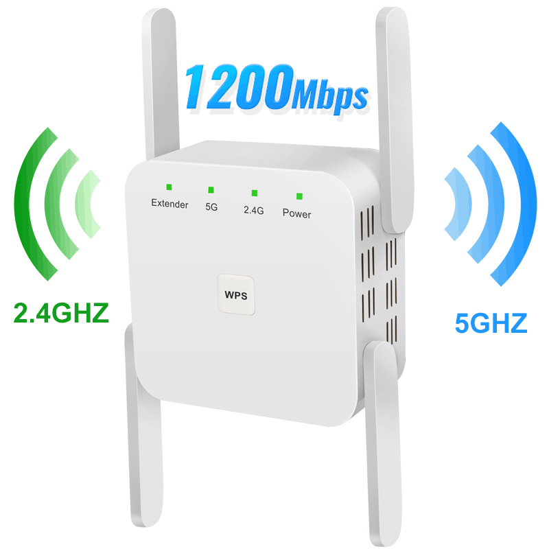 Wireless WiFi Repeater 5G WiFi Extender 1200Mbps Router Wifi Long Range Booster Wi-Fi Signal Amplifier AC 2.4G 5ghz Ultraboost