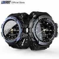 LOKMAT inteligentny zegarek sportowy profesjonalny 5ATM wodoodporny Bluetooth przypomnienie połączeń cyfrowy mężczyzna zegar smartwatch dla ios i androida