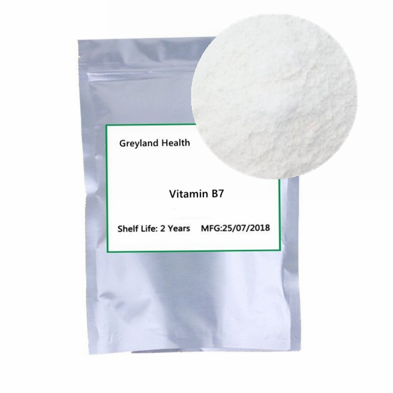 Vitamin B7 (biotin), essential vitamin for human body, beauty and skin care, relieve muscle pain, prevent hair loss