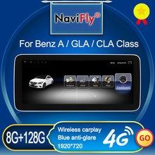 NaviFly 8GB 128GB Android 10 Radio, navegación GPS para coche reproductor para un Mercedes Benz Clase A. W176/clase CLA W117 / GLA X156 Auto DVD